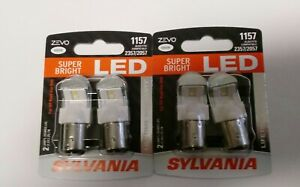 Sylvania Zevo Led Light Bulb 1157 2357 2057 White 6000k 4 Pk