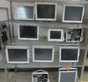 lot Of 11 Philips Intellivue Mp70 Mp30 Mp50 Patient Monitors as Is for Parts