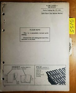 John Deere 650 Series Chisel Plow Parts Catalog Manual Pc 392 11 63