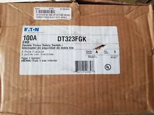 Eaton Double Throw Manual Transfer Switch 100a 3p 240v Fusible Nema 1 Nib