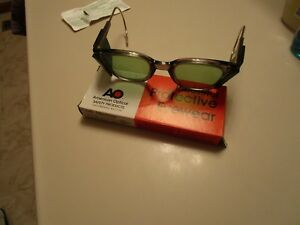 Vintage American Optical Safety Glasses With Side Shields New Old Stock
