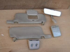 Jdm Nissan Silvia S13 Sun Visors With Rear View Mirror And Room Lights Oem