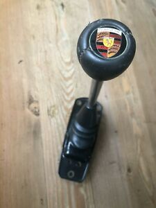 Early Porsche 911 912 Shift Gear Lever With Boots Plastic Porsche Logo Knob