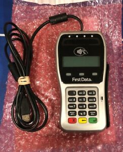 First Data Fd 35 Credit Card Reader Pin Pad Manufactured 2019