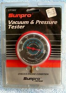 Sunpro Model Engine Vacuum And Pressure Tester Gauge New Sealed Cp7802