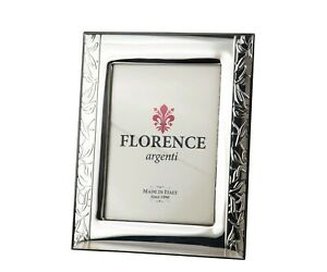 Silver Sheet Photo Picture Frame Handmade 1503 9 13 Gb New