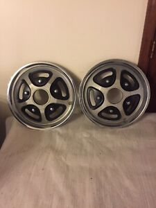 1977 1978 Ford Bronco F100 F150 F250 F350 Truck 15 Front 4 Wheel Drive Hubcaps