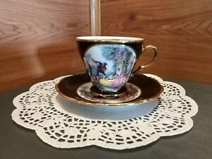Vintage No 9012 Ardalt China Tea Cup Saucer Set Made In Bavaria Germany
