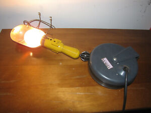 Vintage Montgomery Wards Trouble Light Garage Automotive Tools Mechanic Car