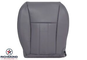 1997 Jeep Cherokee Classic 4x4 2wd Driver Side Bottom Leather Seat Cover Gray