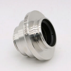 0 55x Adjustable C mount Camera Adapters Relay Lens For Leica Microscope