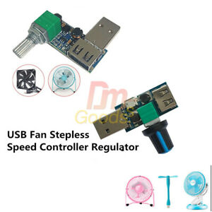 Usb Fan Stepless Speed Controller Regulator Speed Variable Switch Module