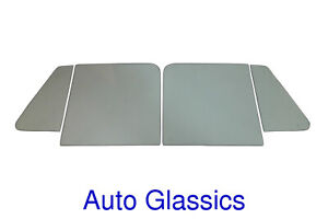 1948 1964 Willys Pickup Truck Wagon Quality Side Glass 4pc Kit New Windows
