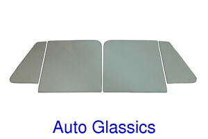 1948 1964 Willys Pickup Truck Wagon Side Glass 4pc Kit New Windows Restoration