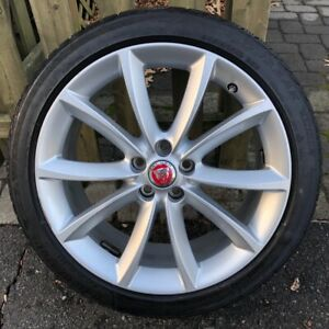 Set Of Four Jaguar F type Oem 19 propeller Winter Wheels Blizzak Snow Tires