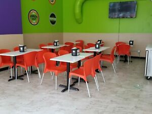 Restaurant White Table Tops Cultured Marble 24 Inside Outside