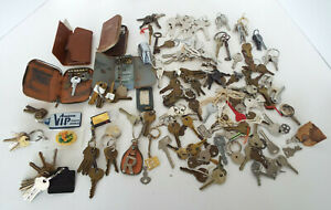 Vintage Keys 4 Lbs Estate Lot Skeleton Tec Cole Weiser Gardner Cases Yale Lock