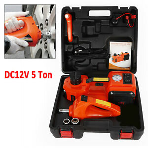 5 Ton 12v Dc Auto Electric Hydraulic Floor Jack Lift Lifting With Impact Wrench