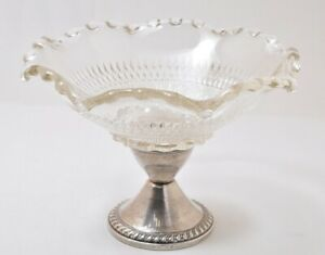 Duchin Antique Weighted Sterling Silver Compote Glass Bowl Beauty 4 X6