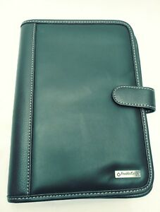 Franklin Covey Planner Binder Organizer With Pockets And Clasp Brown Leather