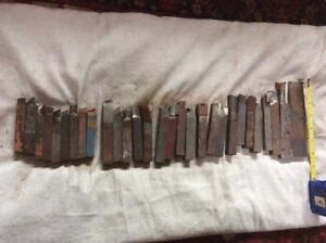Lot Of 29 Lathe Cutting Tool Bits With Carbide Tips Mostly 1 2 And 5 8 Usa
