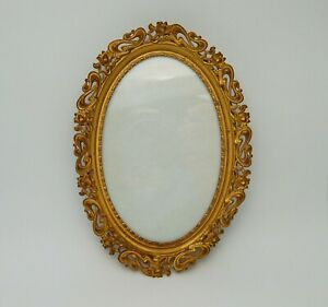 Antique Small Picture Photo Frame With Gold Gilt Openwork Filigree Border