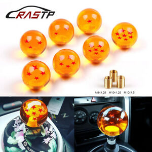 Cool Acrylic 1 7 Star Rare Gear Shift Knob Dragon Ball Amber With 3 Screw Nut