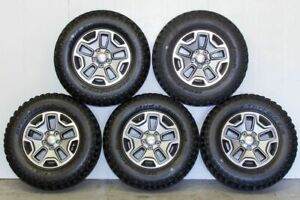 2017 Jk Jeep Wrangler Rubicon Oem Wheels And Tires With Tpms Brand New Set Of 5