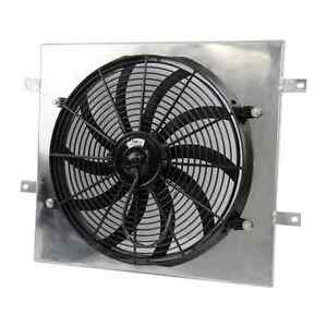 Aluminum Shroud W 14 Fan For 1987 2006 Jeep Wrangler Yj Tj 2 4l 4 2l Radiator