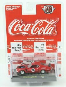 Coca Cola 1970 Ford Mustang BOSS 302 M2 Machines 1:64 RC02 ~ NEW ! ! ! NICE