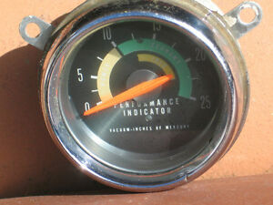 Mopar Console Mounted Performance Indicator Gauge 64 65 66 Dodge R T Roadrunner