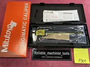 new Mitutoyo Japan Made 8 Inch Absolute Digital Caliper machinist Tool P309