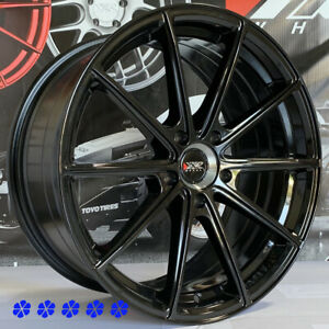 Xxr 568 Wheels Black 18 20 Staggered Rims 5x4 5 94 98 99 04 Ford Mustang Cobra