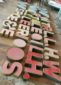Vintage Light Up Letters 36 Alphabet Sign Business Commercial Marquee