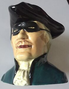 Toby Dick Turpin Hand Painted Ceramic Signed Jug
