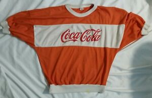 Vintage Coca Cola Shirt or Decoration One Size Fit most Made in USA Orange White