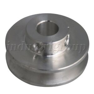 Fixed Single Bore V groove Pulley Wheel For Motor Shaft 0 3 0 5cm Pu Belt