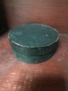 Early Old Round Pantry Box Top Of Stack Black Paint