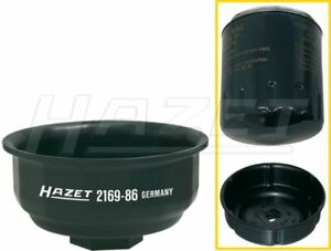 Hazet 2169 86 1 2 Square Hollow 9 Groove Profile Oil Filter Wrench Socket 86mm