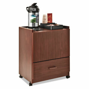Mobile Deluxe Coffee Bar 23w X 19d X 30 3 4h Cherry