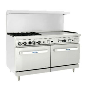 Atosa Ato 4b36g 60 Cookrite Gas Restaurant Range With 4 Burners And 36 Griddle