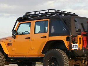 New Jeep Wrangler Jk 07 18 2 Door Roof Rack Basket with Outer Roll Cage Bars