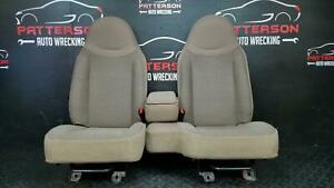 2001 Ford Ranger Front Manual Bench Seats Cloth 60 40 Medium Prairie Tan Ex