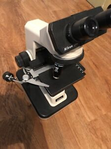 Nikon Alphaphot Ys2 Ys2 t Microscope With 3 Objectives Working