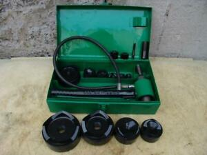 Greenlee 7310 Stainless 1 2 4 Inch Hydraulic Knock out Punch And Die Set 24