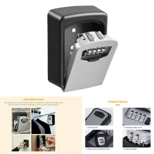 Multifunctional Tool Safe 4 Digit Combination Wall Mount Security Key Lock Box