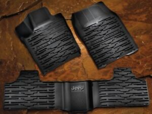 2011 2012 Jeep Grand Cherokee Black All Weather Floor Mats 3pc Set 82212172ac