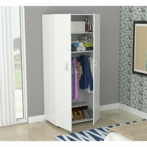Inval Washed Oak Two Door Wardrobe Armoire
