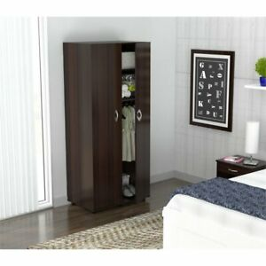 Inval Two Door Espresso Wardrobe Armoire