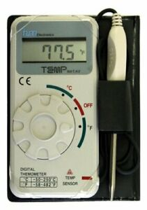Industrial Grade Digital Celsius Fahrenheit Thermometer W 20 inch Cable By Hm